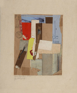 Kurt Schwitters. For Holy Days. 1947. Dibujo Marz-Collage sobre papel