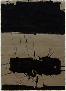 Manolo Millares - UNTITLED 1962, gouache on paper. 70,4 x 49,5 x 3,18cm